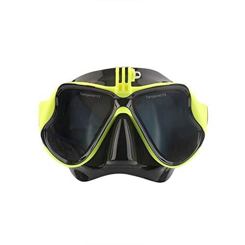 Peepheaven Underwater Camera Plain Tauchmaske Scuba Snorkel Schwimmbrille für GoPro - Gelb