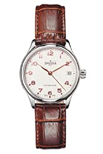 Davosa Classic Automatic Women's Automatic Watch with White Dial Analogue Display and Brown Leather Strap 16618866