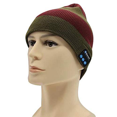 WXGY Bluetooth inalámbrico Beanie Hat Estéreo Bluetooth 4.2 Auricular Smart Cap Auricular Auricular Altavoz Micrófono de Punto Musical Auricular Auricular Sombrero