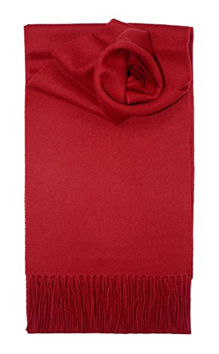 100% Lambswool Plain 'Red' Coloured Scarf & Gift Wrap - Made in Scotland by Lochcarron