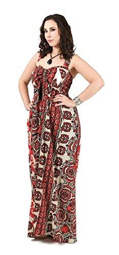 481cf77c501 ... Damen Kleid Maxikleid lang Sommerkleid Patchwork Übergrösse XXL große  Größen 40 42 44 46 ...