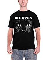 Deftones Herren T Shirt Schwarz Sphinx Cat Eyes band logo offiziell