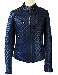Nappa Lederjacke BALTIMORE blau (BALTIMORE ROYAL): Amazon
