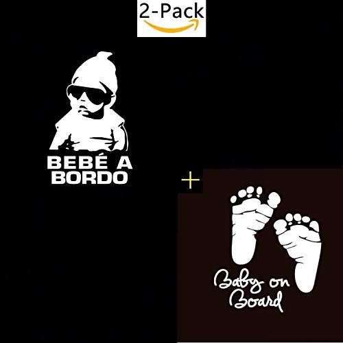 Legna Desings Kit Paquete Familia de 10 + Pegatina Bebe a Bordo Molon para el Coche (Pies Bebe + Bebe Molon)