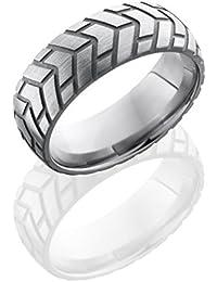 SlipRock Titanium, Engraved Polished Wedding Band (sz H to Z1)