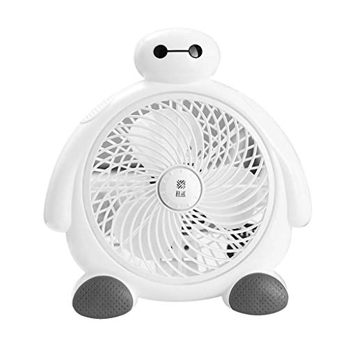 XFS Cartoon Großen Weißen Elektrischen Ventilator zu Hause Student Schlafsaal Bett Kleinen Fan Desktop Drehen Seite Fan Mini Desktop Fan, Weiß, a (Elektrische Hause Für Ventilatoren Zu)