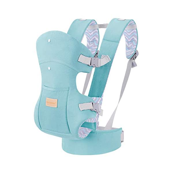 Infant Baby Holder Carrier Backpack Ergonomic with Head Support Padded Shoulder Straps Front and Back for Newborn Toddler Wrap in All Season,Green tiancaiyiding ❤ Ergonomic Design: Wide and thick backpack straps help relieve stress . Easy to put on or take off. ❤ M shape Position: Stop hurting your baby's legs. Keep blood circulation in normality. ❤ All-round Support: Simple and thus strong structure. 360° wraps the baby against falling out. Collapsible hood for wind and sun protection 1