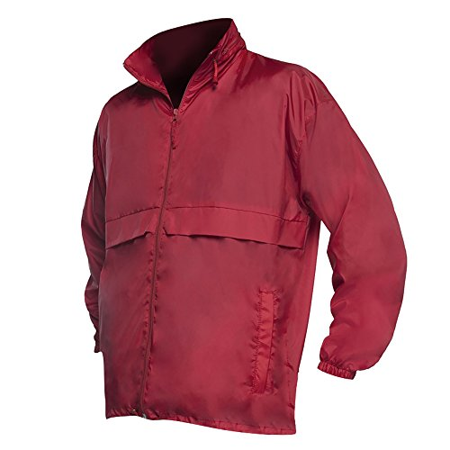 SOLS Unisex Surf Windbreaker / Jacke, besonders leicht Rot