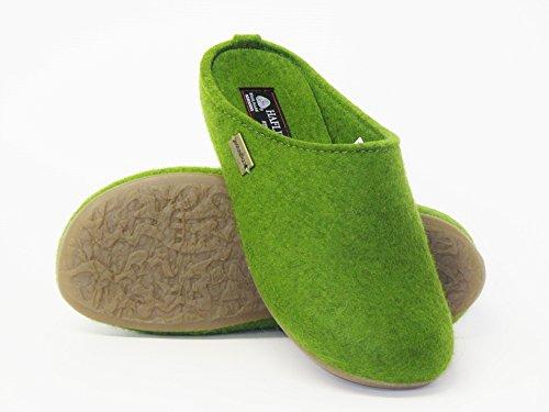 Haflinger Unisex-Erwachsene Everest Fundus Pantoffeln Grasgrün