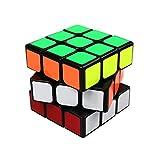 FC MXBB 3x3 PVC Sticker Smooth Speed Puzzle Magic Cube Black -Twist Brain Teasers IQ Toys for kids 56mm