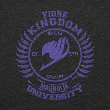 TEXLAB - Fiore Kingdom - Herren Langarm T-Shirt Schwarz