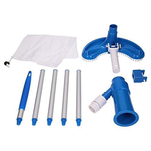 Pool Bodensauger Venturisauger Bürste von SL247 mit Filtersack für Gartenschlauch passend für alle handelsüblichen Aluminium-Teleskopstangen