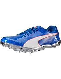 PUMA Men's Evospeed Electric 6 Track-Shoes, Nrgy Peach-Puma White-Nrgy Turquoise, 9. 5 M US - B01N6GSM9N