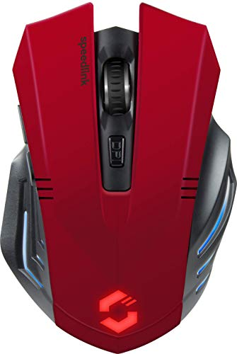 Speedlink FORTUS Gaming Mouse Wireless - 5 Tasten Maus Kabellos, schwarz