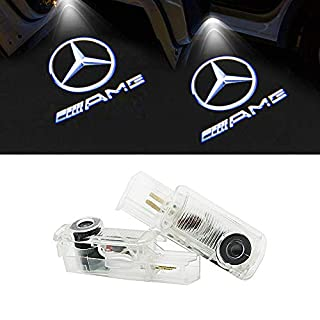 LIKECAR 2pcs Ghost Shadow Light Car Welcome Logo Door Light (Benz R-AMG)