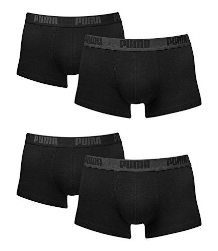 Puma Herren Shortboxer Basic Unterhosen 4er Pack in verschiedenen Farben 521025001 m = Gr.5 = 4 Stück