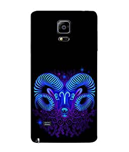 PrintVisa Aquarius 3D Hard Polycarbonate Designer Back Case Cover for Samsung Galaxy Note 4 :: Samsung Galaxy Note 4 N910G :: Samsung Galaxy Note 4 N910F N910K/N910L/N910S N910C N910Fd N910Fq N910H N910G N910U N910W8