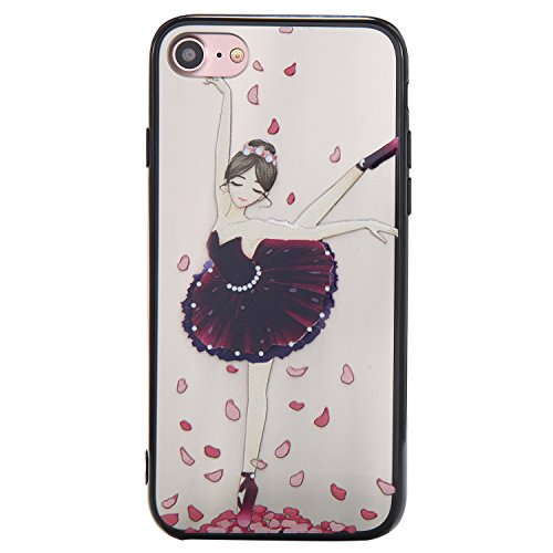 Nancen Hülle Apple iPhone 6 Plus / 6S Plus (5,5 Zoll) . Girl cover TPU Case Handyhülle Backcover Girl cover 7