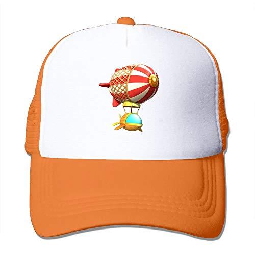 Mesh Baseball Caps Hot Air Spaceship Illustration Unisex Adjustable Sports Trucker Cap -
