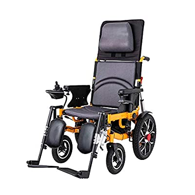 GYH Electric Wheelchair, Folding and Reclining Wheelchair, Disabled Elderly Four-Wheeled Care Vehicle, Load 100kg (#)