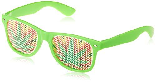 Weed Sunglasses - Funny Wayfarer Shades - Green Leaf Glasses