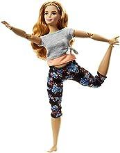 Barbie- Curvy con Capelli Ramati Bambola Snodata, 22 Punti Snodabili per Tanti Movimenti, Multicolore, FTG84