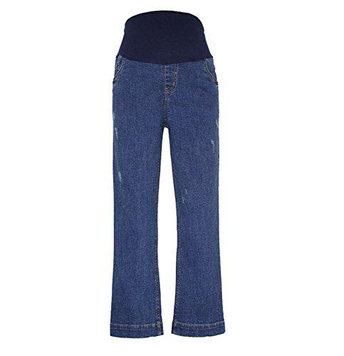 Neue schwangere Frauen gerade Bein lose Mode große Jeans, Taille verstellbare Mutterschaft Hosen