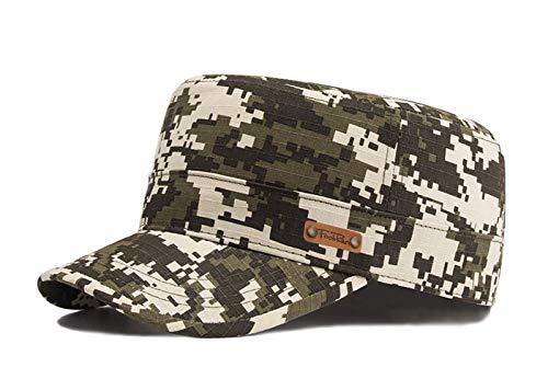 Camouflage Military Style Cap (Unisex Military Style Cap Army Kappe Camouflage Baseball Cap Wandern Mütze (Grün-2))