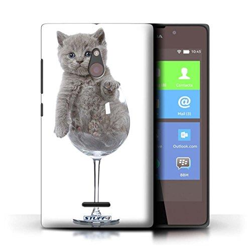 Kobalt® Imprimé Etui / Coque pour Nokia XL / Miroir conception / Série Chatons mignons Verre de vin
