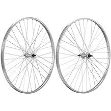 ONOGAL 2X Llanta Rueda Bicicleta de Piñon Libre 700 5/8 Aluminio Plata 1V Singlespeed