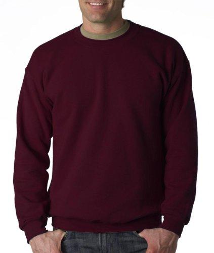 Gildan Men's Heavy Blend Crewneck Sweatshirt - Large - Maroon - Gildan Crewneck Sweatshirt