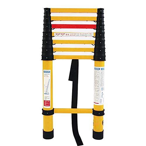 Teleskopleitern ZX, Isolierte Fischleiter, Ausbaubare FRP-Leiter, Isolierte Leiter for Elektriker, Power Worker Ladder (Size : Straight Ladder 2.5m) (Elektriker Leiter)