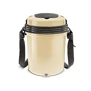 Milton Electron Stainless Steel Tiffin Box Set, 360ml/158mm, Set of 4, Cream