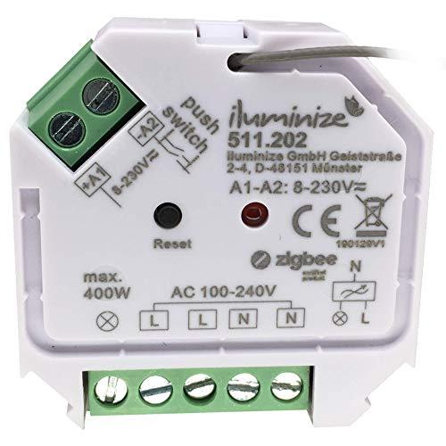 iluminize Zigbee 3.0 Schalt-Aktor Mini, 1 Kanal 230V, max. 400W, Lightlink & Touchlink, keine Dimmfunktion!