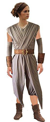 Rey-Kostüm für Damen: (Star Rey Kostüm Damen Wars)