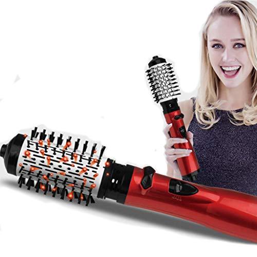 Lockenwickler Ionic Hair Dryer Brush 360 ° Rotation Austauschbare Modellierbürste Für Kurzes Und Langes Haar Mit Nano Ceramic Turmaline (Halter Reise-lockenstab)