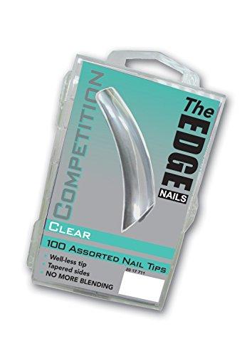 Le Bord Transparent concurrence ongles - Lot de 100