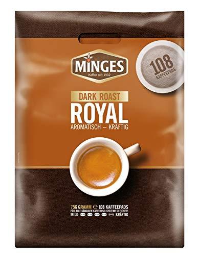 Minges Café Crème Dark Roast Megabeutel, 6 x 18 Kaffeepads (100 + 8 gratis), Aroma-Softpack, 756 g, 1er Pack (1 x 756 g) thumbnail