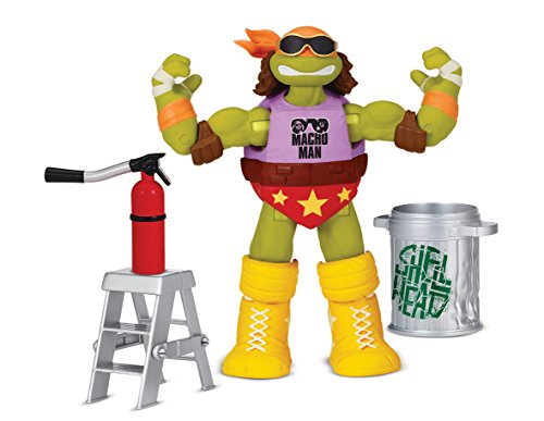 Teenage Mutant Ninja Turtles Turtles WWE Mash Up Action Figuren Micky Maus als Macho Man (Wwe Action-figur Waffen)
