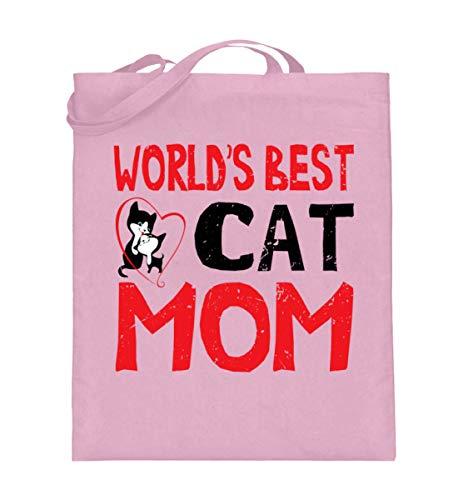 generisch World`s Best Cat Mom - weltbeste Katzenfrauchen - Jutebeutel (mit langen Henkeln)...