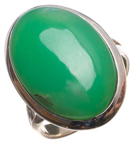 stargems (TM) Natürliche australischem Chrysopras handgefertigt Einzigartige 925Sterling Silber Ring, UK Größe N (Kostüme Australien In Billig)
