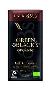 Green & Blacks Dark Chocolate 85%, 1er Pack (1 x 100 g) - Bio