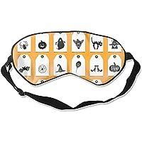 Fashion Halloween Tags Print Schlafmaske Super Smooth Silk Eyeshade preisvergleich bei billige-tabletten.eu