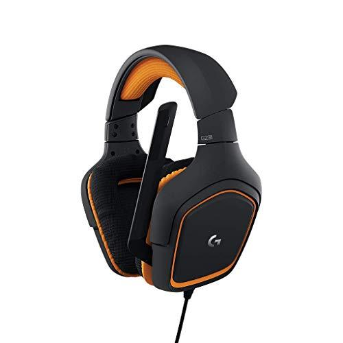LogitechG231 Gaming-Kopfhörer Prodigy Stereo (mit Mikrofon für PC, XboxOne und PS4) schwarz/orange thumbnail