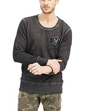 trueprodigy casuale uomo felpa motivo stampa, abbigliamento urban moda girocollo (manica lunga & slim fit classic...