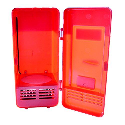 Kühlschrank Bierkühler (Homyl Mini Kühlschrank Getränkekühlschrank mit usb Kabel,zwei Farbwahl - rot)