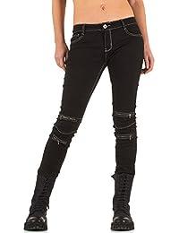suchergebnis auf f r biker jeans damen bekleidung. Black Bedroom Furniture Sets. Home Design Ideas