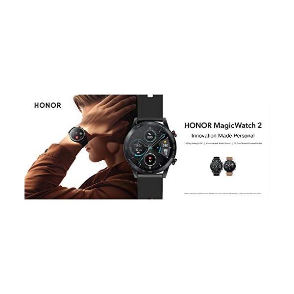 Honor MagicWatch 2 46 mm Smart Watch, con monitor de ritmo cardíaco y estrés, modos de ejercicio, aplicación para correr… 5