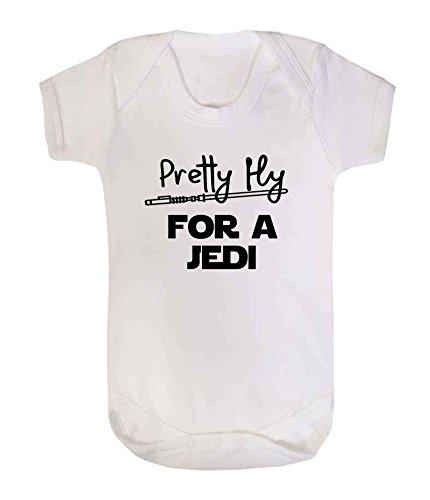 Pretty Fly pour un Jedi Star Wars fantaisie Dors bien bébé Gilet Body Combinaison Funny Jedi (6-12 mois, Blanc)