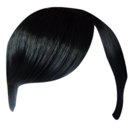 FRINGE BANG Clip in Hair Extension STRAIGHT Black #1b